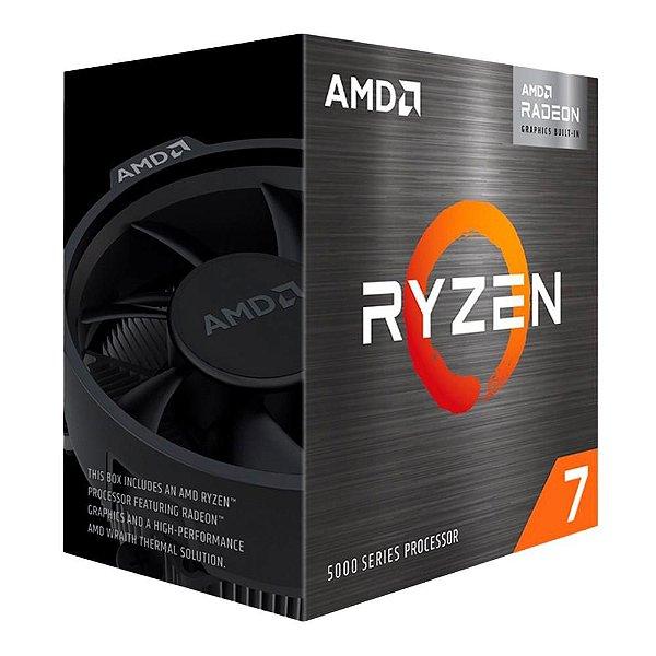 Processador AMD Ryzen 7 5700G, 3.8GHz (4.6GHz Max Turbo), AM4, Vídeo Integrado, 8 Núcleos - 100-100000263BOX