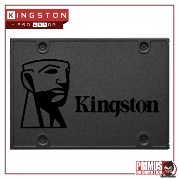 SSD Kingston 2.5´ 480GB A400 SATA III Leituras: 500MBs / Gravações: 450MBs - SA400S37/480G