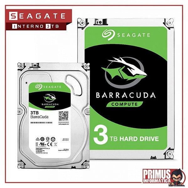 HD SEAGATE BARRACUDA 3TB 64MB CACHE SATA 6.0GB/S 3.5  ST3000DM007