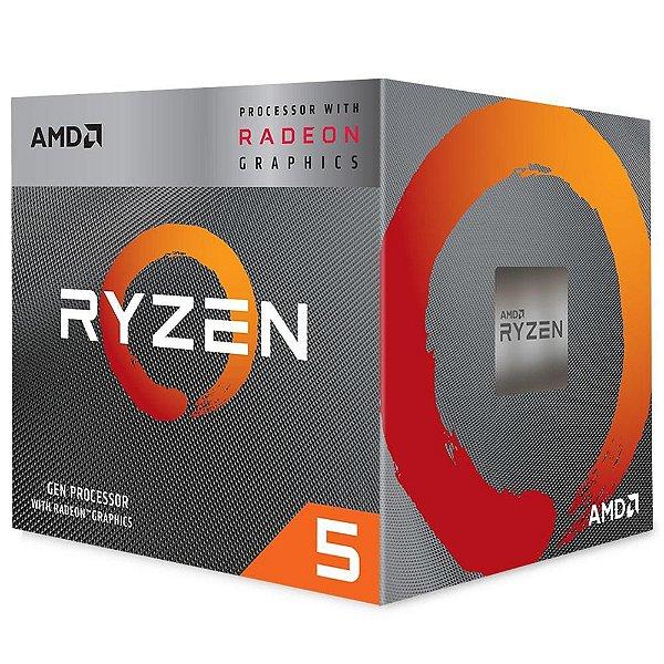 Processador AMD Ryzen 5 3400G, Cache 4MB, 3.7GHz (4.2GHz Max Turbo), AM4 - YD3400C5FHBOX
