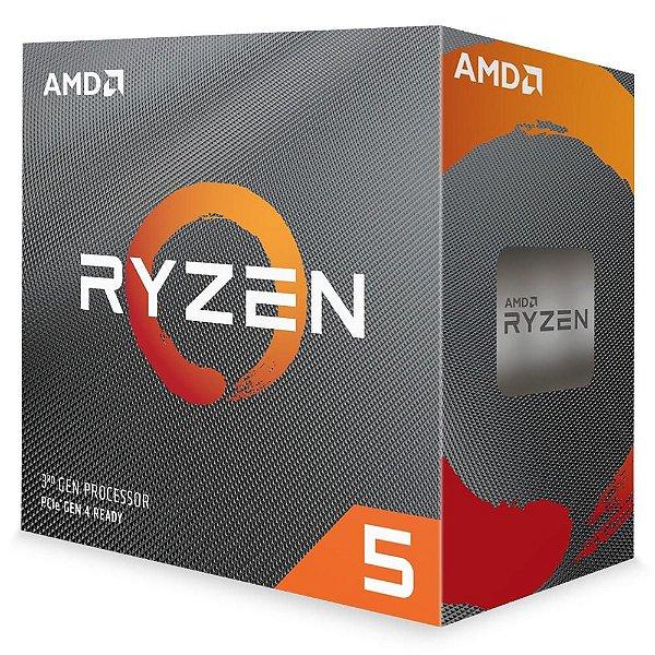 Processador AMD Ryzen 5 3600 Cache 32MB 3.6GHz(4.2GHz Max Turbo) AM4 - 100-100000031BOX