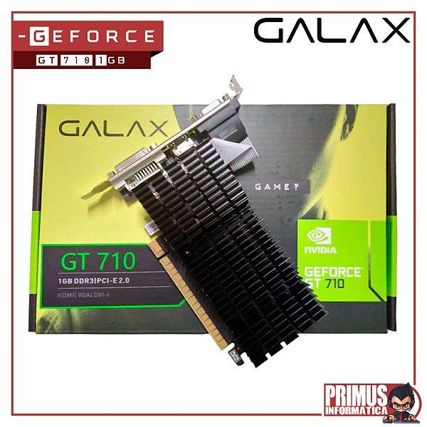 Placa de Vídeo Galax NVIDIA GeForce GT 710 1GB, DDR3