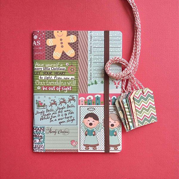 Combo Jingle Bells (caderno + tags)