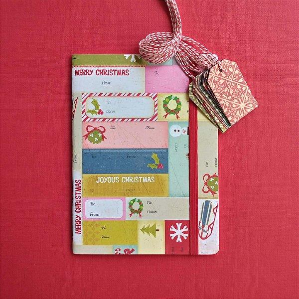 Combo Merry Christmas (caderno + tags)