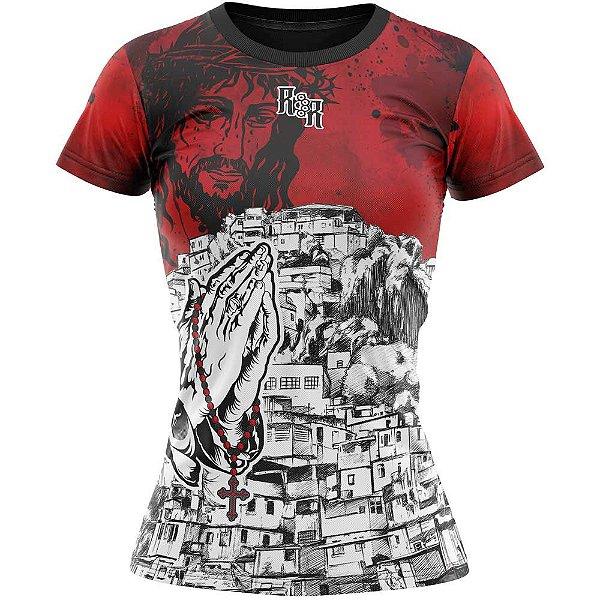 Camiseta Feminina Favela Venceu