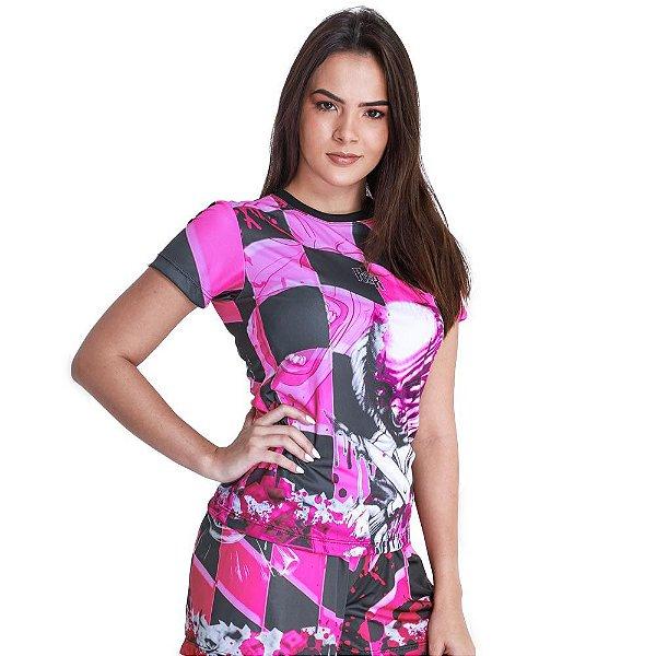 Camiseta Feminina Palhaço Rosa
