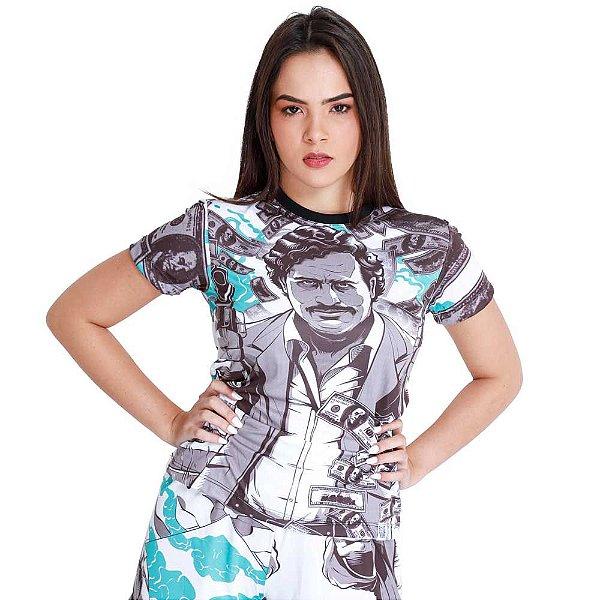 Camiseta Feminina Pablo Escobar