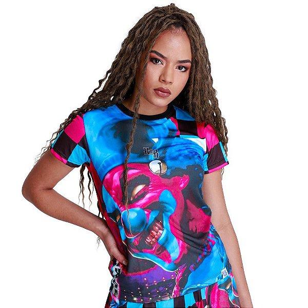 Camiseta Feminina Palhaço do Mal