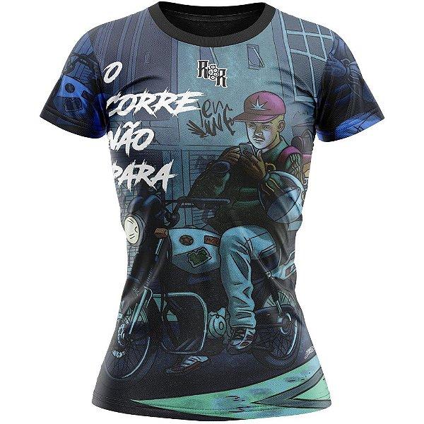 Camiseta Feminina O Corre Não Para