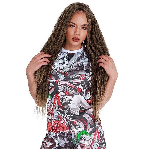 Camiseta Feminina Grau Metralha Cartoon