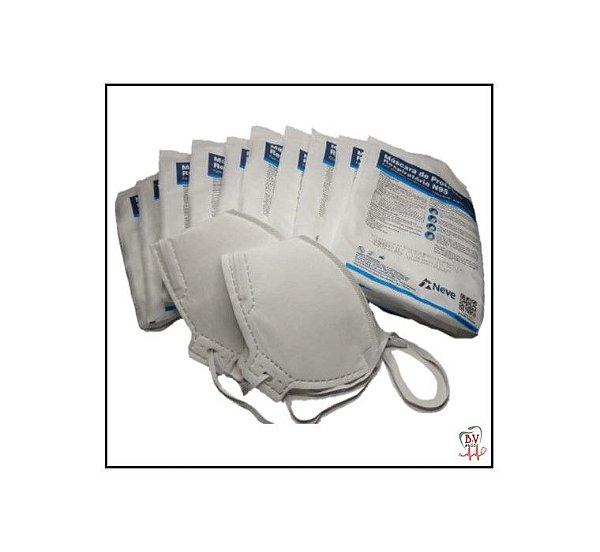 Máscara N95 PFF2 Branca com Elástico e Clipe Nasal - COMBO PAGUE 10 E LEVE 12