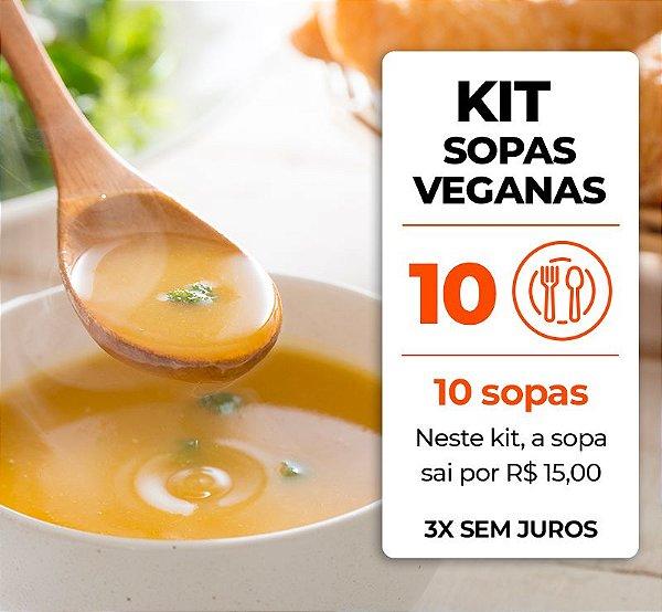 Kit 10 Sopas Veganas