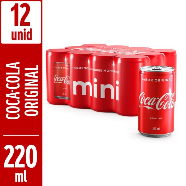 Coca Normal 220 ML (Pack Com 12 Unidades)