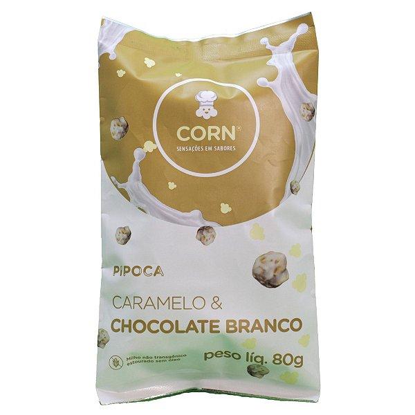 Pipoca Gourmet Sabor Caramelo & Chocolate Branco 80g - Corn
