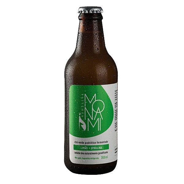 Kombucha Limão e spirulina - 300ml - Monami