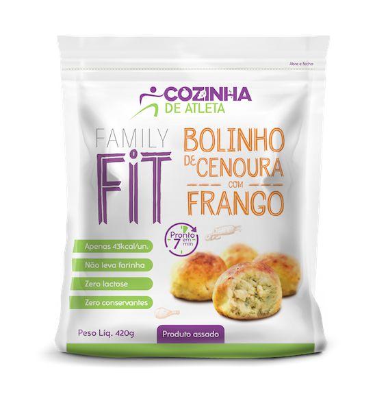Bolinho de Cenoura com Frango 420g - 12 unidades