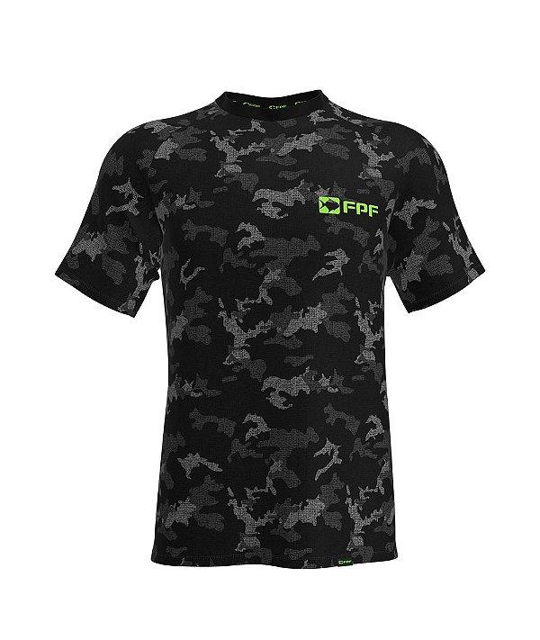 Camiseta Fpf Manga Curta Dry Fit Camuflada