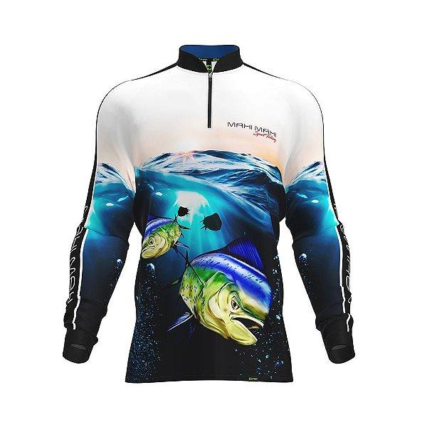 Camisa Fpf Proteção Solar Mahi Mahi Azul