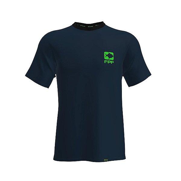 Camiseta Fpf Manga Curta Dry Fit Azul