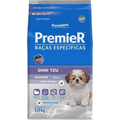 Ração Premier Raças Específicas Shih Tzu para Cães Filhotes 1kg