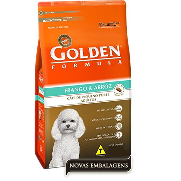 Ração Golden Fórmula Mini Bits para Cães Adultos de Pequeno Porte Sabor Frango e Arroz 1kg
