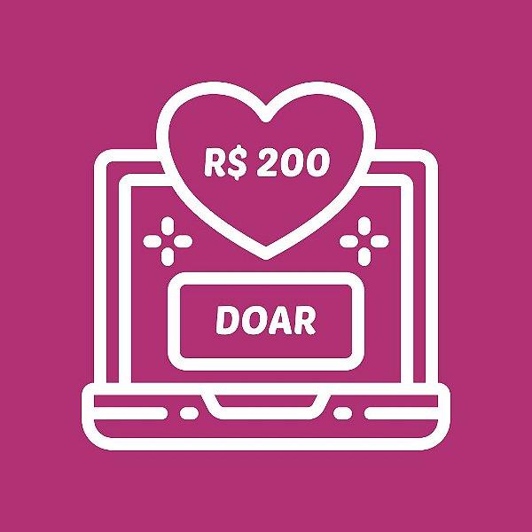 DOE R$ 200,00