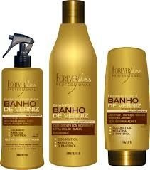 Kit Banho de Verniz Queratina + Shampoo + Leave-in 5 em 1
