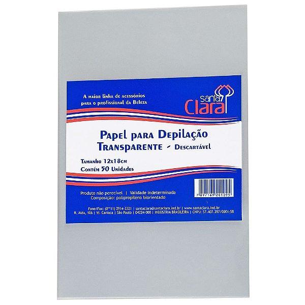 Papel Transparente para Depilação - 50 unidades