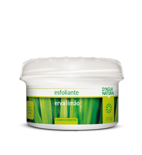 Esfoliante Corpo e Rosto Erva Limão 300g - D'agua Natural
