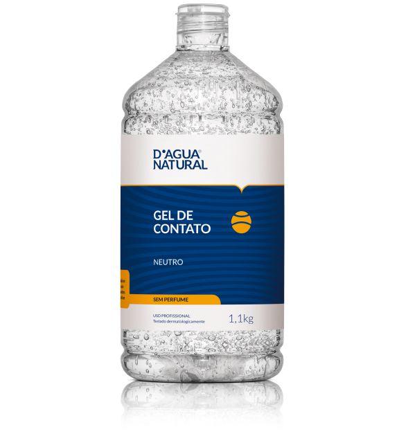 Gel de Contato Neutro Sem Perfume D'Água Natural - 1,1kg