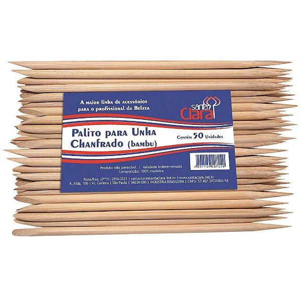 Palito para Unhas de Bambu Santa Clara 50 Unidades