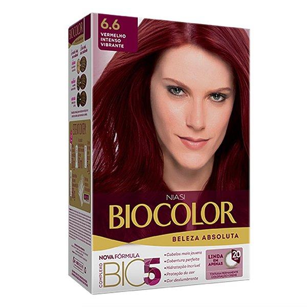 Biocolor Kit Tintura Creme Vermelho Intenso Vibrante - 6.6