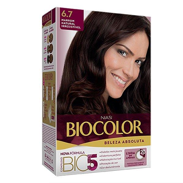 Biocolor Kit Tintura Creme Marrom Natural Irresistível - 6.7