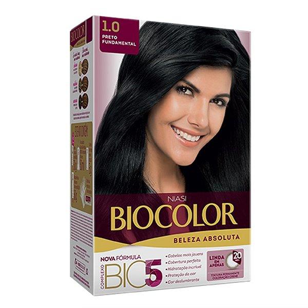 Biocolor Kit Tintura Creme Preto Fundamental - 1.0
