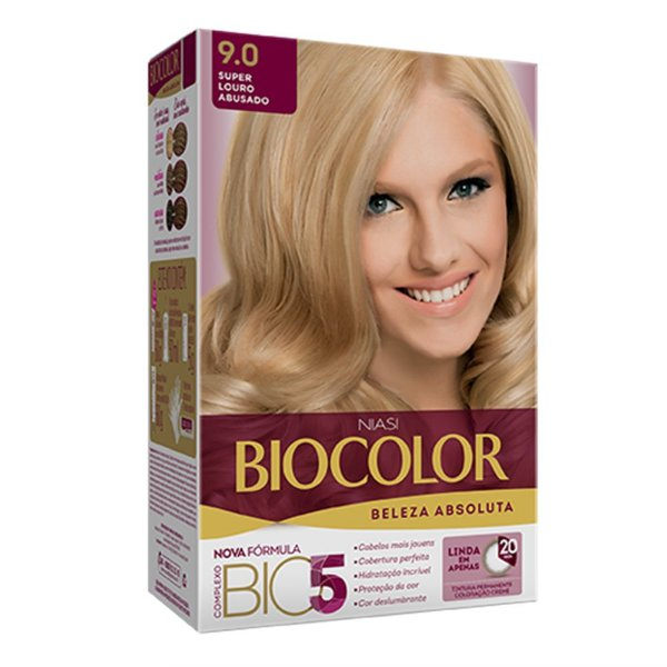 Biocolor Kit Tintura Creme Super Louro Abusado - 9.0