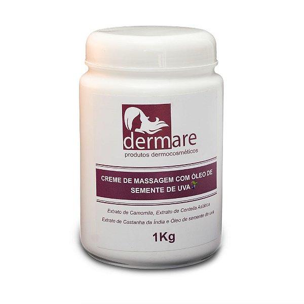 Creme de Massagem Corporal Semente de Uva Dermare - 1kg