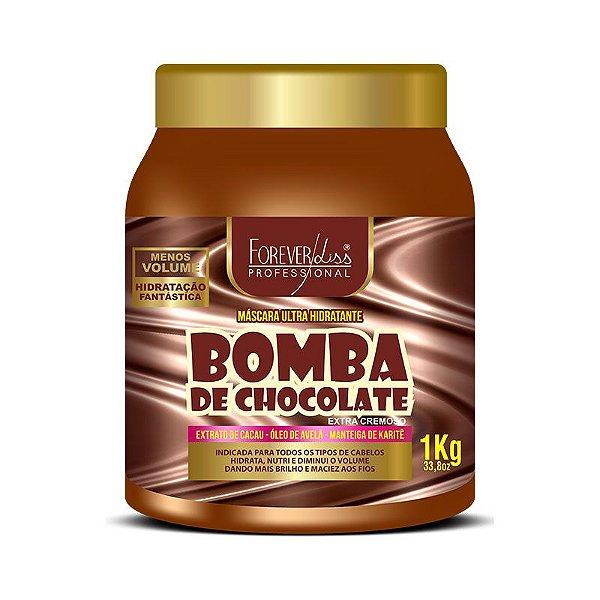 Bomba de Chocolate Forever Liss Máscara Hidratante - 1kg