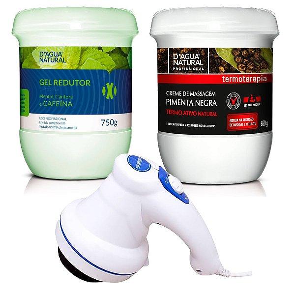 Combo Barriga Zero D'agua Natural e Massageador