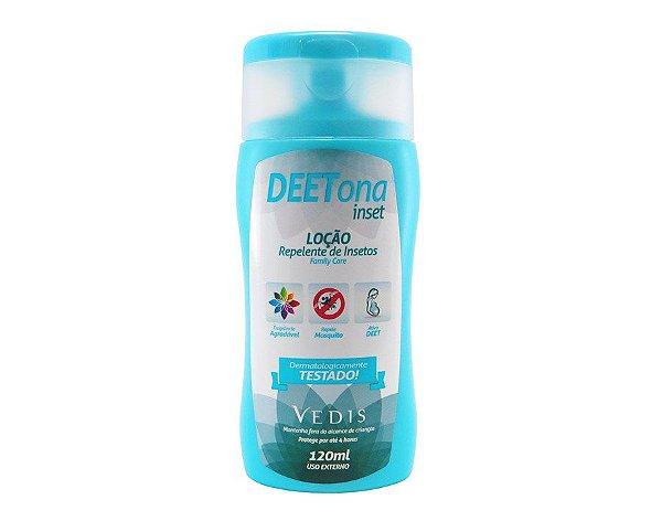 Loção Repelente de insetos Deetona Inset Vedis - 120ml