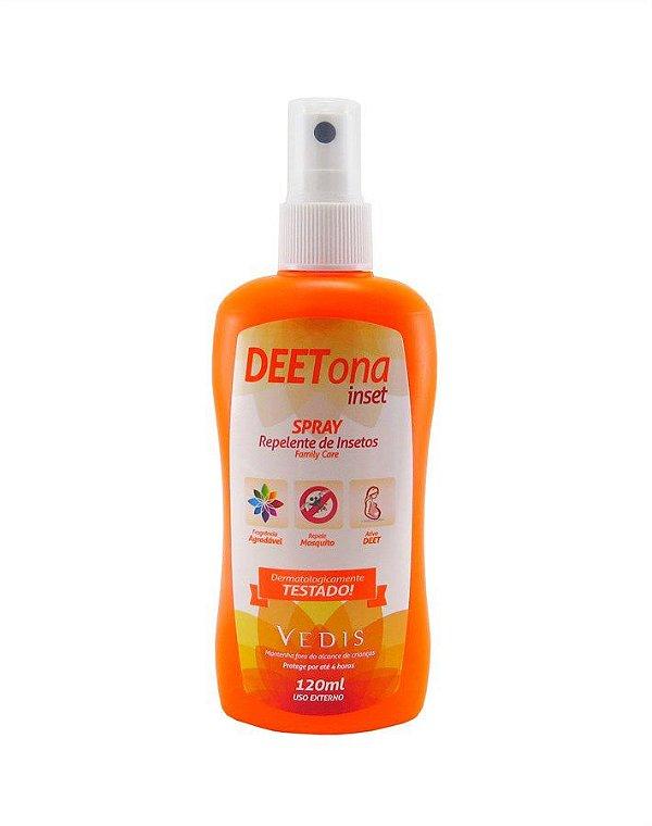Spray Repelente de Insetos Deetona Inset Vedis - 120 ml