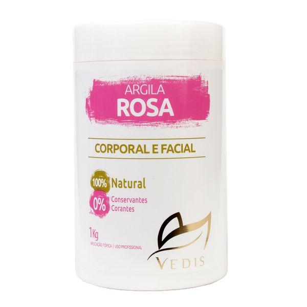 Argila Rosa Vedis 1kg - 100% Natural