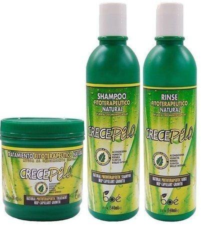 Boé Crece Pelo Kit Shampoo + Condicionador + Mascara 240g