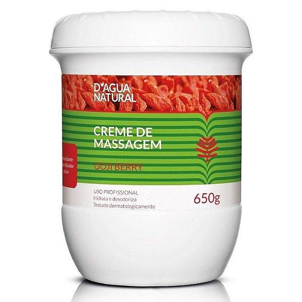 D'agua Natural Creme De Massagem Goji berry 650g