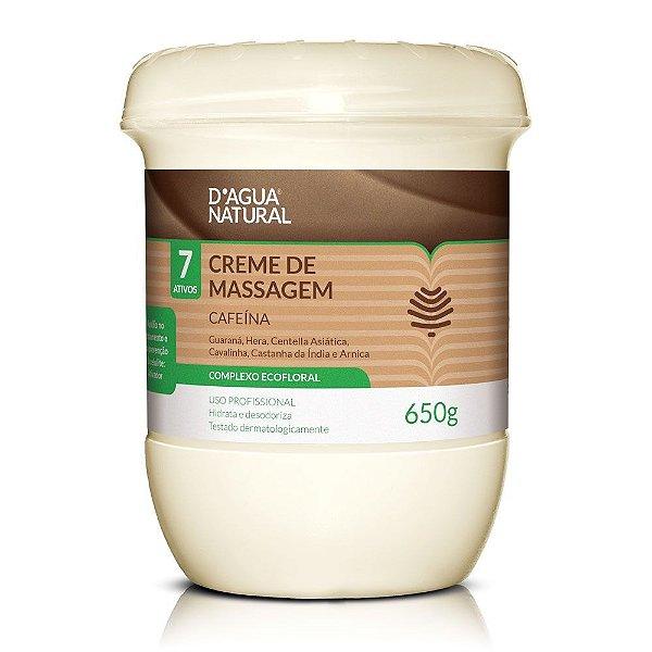 D'Água Natural Creme de Massagem Cafeína 7 Ativos 650g