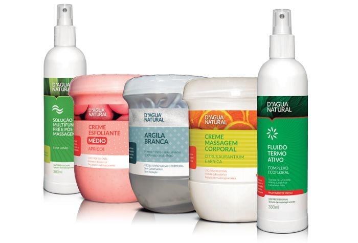 D'agua Natural Kit Para Massagem Oligoredux Corporal com Argila