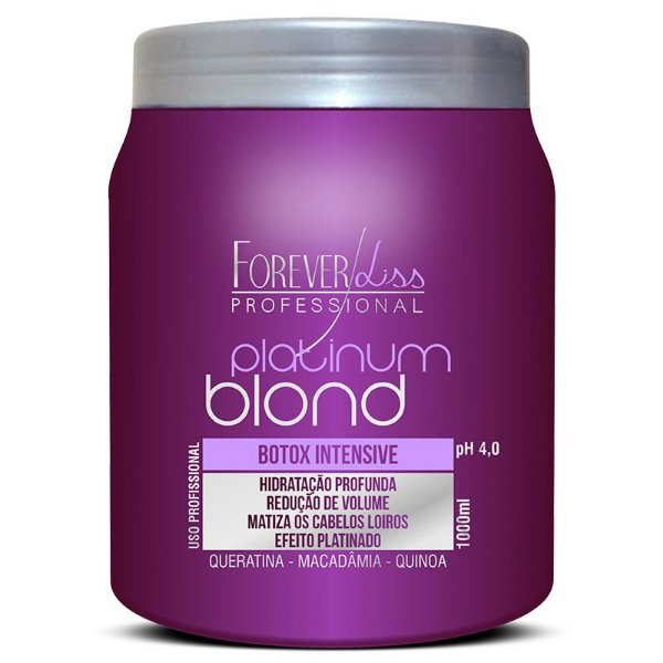 Botox Capilar Forever Liss Platinum Blond