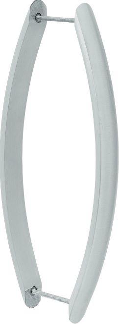 REF. 319 ACETINADO - Puxador Alumínio Barra Curva