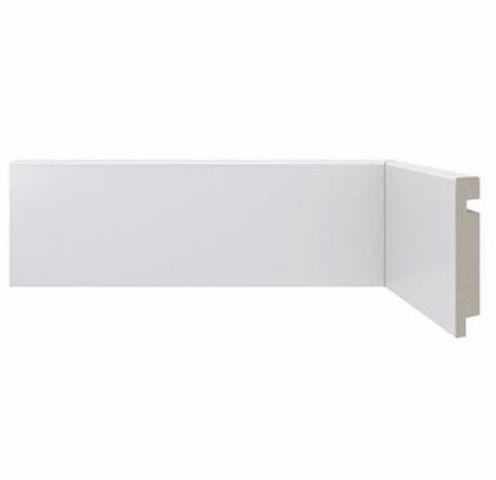 RODAPÉ LISO - Em MDF Ultra Barra 2,16 m x 1,5 cm Recoberto Branco
