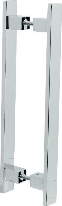 REF. 353 CROMADO - Puxador Alumínio Barra Chata Reta
