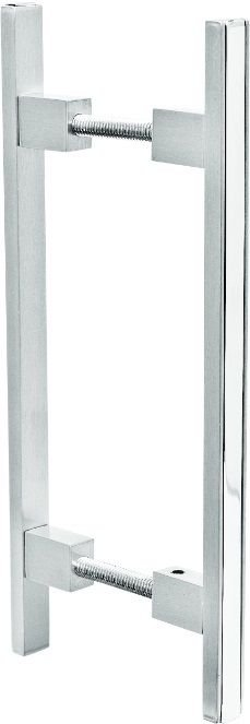 REF. 367 ACETINADO - Puxador Alumínio Barra Reta com Friso Cromado